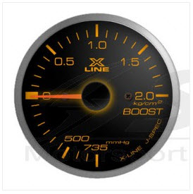 X-Line Smoke Amber LED Boost  52mm
