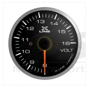 X-Line Smoke White LED Voltmeter
