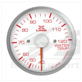 X-Line White Dial Water Temp 52mm