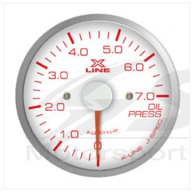 X-Line White Dial Oil Press 52mm