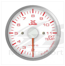 X-Line White Dial Exhaust Temp 52mm